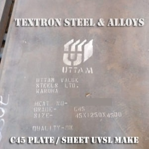 Carbon Steel C45 Plate Sheet UVSL make mumbai