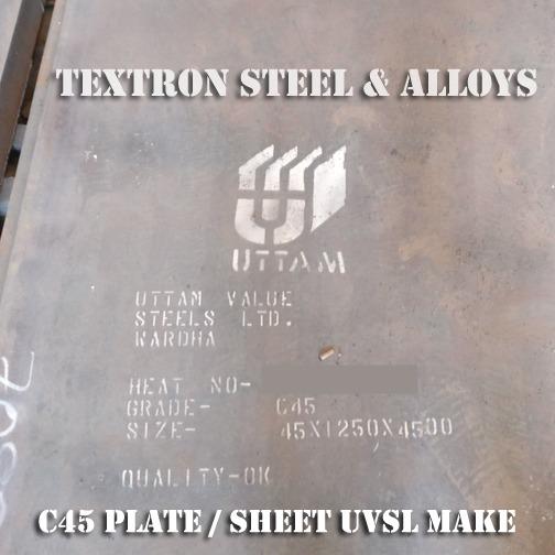 Bekannt C45 Plates   Sheets Suppliers, Uttam Make, Heavy Thickness, Cut Piece TZ63
